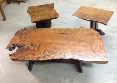Reclaimed wood coffee set