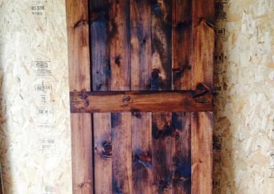 The rolling barn door